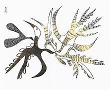 Emakatilik - Stonecut print by Angotigolu Teevee
