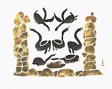 Innukshuit and Geese - Print by Pitseolak Ashoona