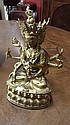A GILT BRONZE TIBETEN FIGURE OF THE NAMGYALMA