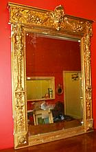A VERY UNUSUAL 19TH CENTURY GILT AND GESSO WALL