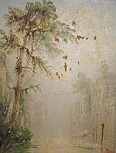 "JAMES SALT (1850-1903), ""Venetian Scene, with Swans and Gondolas on a"