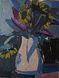 Brian Ballard Sunflowers and Buddleia (2009) Oil