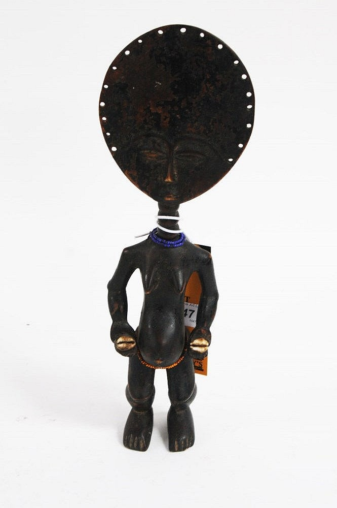 AN AKUA 'BA FERTILITY DOLL, Ashant, Ghana, with