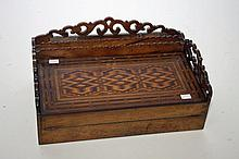 AN UNUSUAL VICTORIAN WALNUT TABLE TOP WRITING BOX,