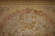 AN AUBUSSON STYLE PETIT POINT CARPET OR WALL