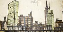 AFTER BERNARD BUFFET, Panoramic City Scape,