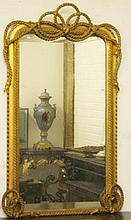 A VERY ATTRACTIVE GILT PIER OR CONSOLE MIRROR,