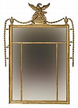 A GILT AND GESSO WALL MIRROR, George III period,