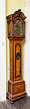 A VERY FINE 19TH CENTURY DUTCH FLORAL MARQUETRY LONG CASE CLOCK,  by Van Me