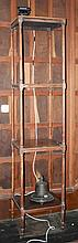A TALL 19TH CENTURY FOUR TIER MAHOGANY WHATNOT,  with four square shelves,