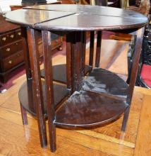 A CHIPPENDALE STYLE MAHOGANY CUTLERY STAND,   with