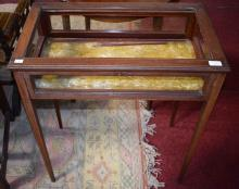 AN EDWARDIAN INLAID MAHOGANY BIJOUTERIE TABLE,  th