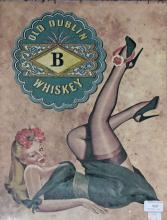 A FACSIMILE OLD DUBLIN WHISKEY ADVERTISING POSTER,