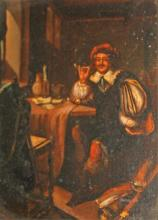 19TH CENTURY CONTINENTAL SCHOOL,  Figure in an Int