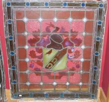 A FINE SET OF FOUR 19TH CENTURY LEADED AND STAINED