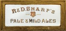 A FINE LARGE OLD PUB ADVERTISING MIRROR,  for R &