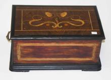 A SWISS EIGHT-AIR MUSIC BOX,  striking on five ste