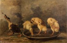 GREGOR GREY (ACT. 1870-1911), Wash Time, Goslings