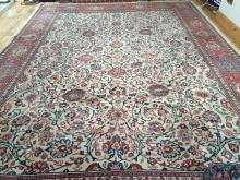 A TABRIZ STYLE PERSIAN CARPET,  with double centre