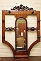A VICTORIAN MAHOGANY HAT AND COAT STAND, with