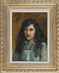 ATTRIBUTED TO ANDRE SINET (1867-?) Portrait of a