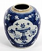 A CHINESE BLUE AND WHITE GINGER POT, 19th century,