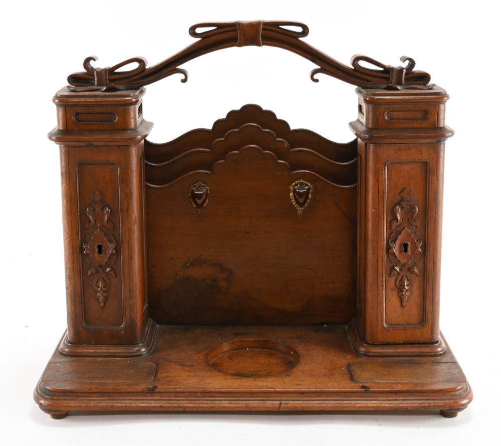 Antique Gentleman's Pipe Smokers Desk Cabinet