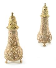 Steiff Repousse Salt and Pepper Shakers