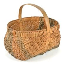 North Carolina Cherokee Indian Two Color Woven Basket