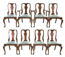 Henkle Harris Formal Matching Set Of 8 Dinning Chairs