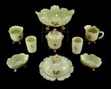 Northwood Louis XV Custard Glass Collection