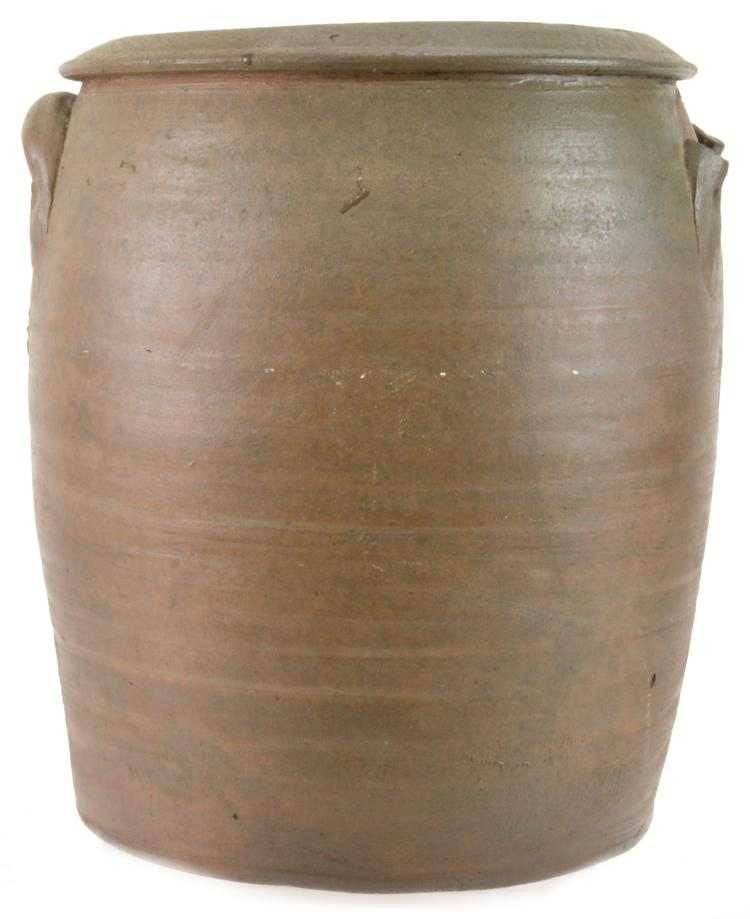 Alamance Co. NC Attributed J.T.Boggs Pottery 4 Gallon Crock