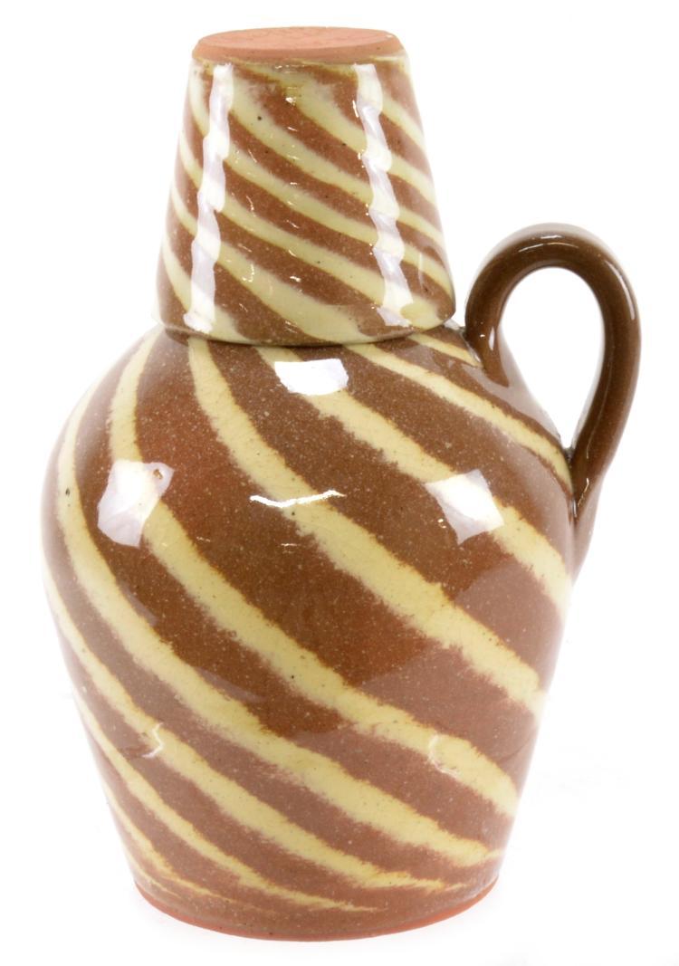 Charles Lisk Vale North Carolina Art Pottery Jug And Tumbler