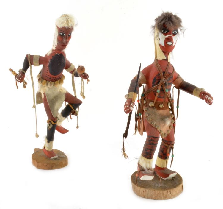 Cherokee NC Wooden Spear Dance Wooden Dolls By I McB