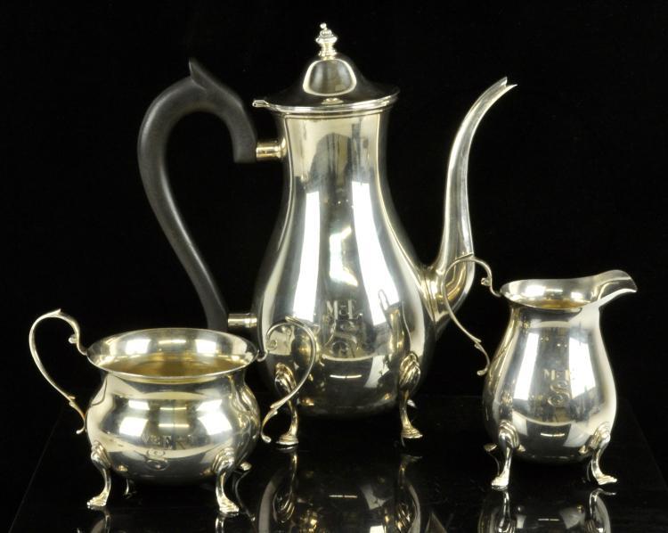 Becht & Hartl Sterling Silver Tea Set