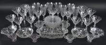 Cambridge Glass Rosepoint Etched Crystal Collection
