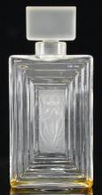 Lalique Frosted Art Glass Perfume Bottle