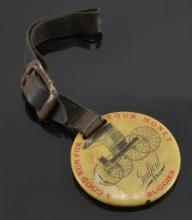 Rare Guilford Buggies N.S. Cardwell Burlington NC Watch Fob