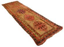 Antique Persian Handmade Wool Rug Runner