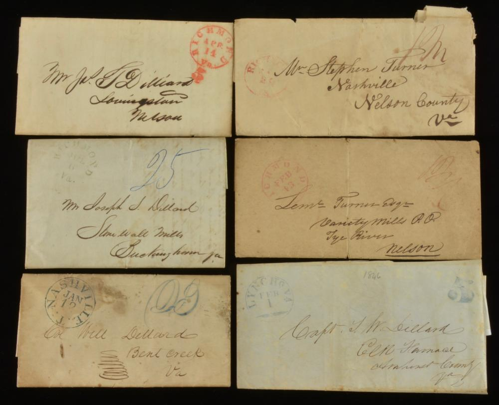Southern Stampless Postal Covers Dillard Family Va.