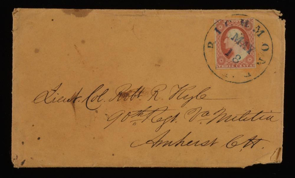 William H. Richardson Virginia Militia Letter