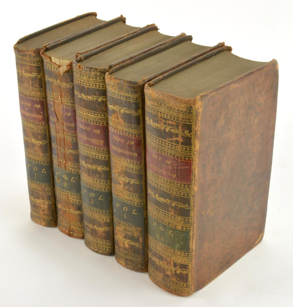 Life Of George Washington By Marshall 5 Volume Set