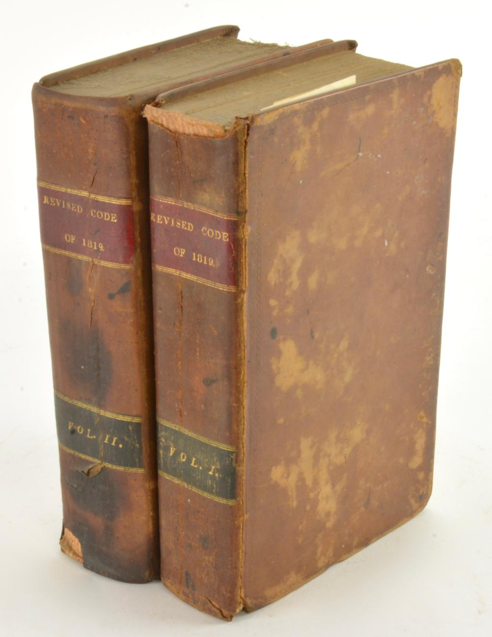 The Revised Code Laws Of Virginia General Assembly 1819 Richmond