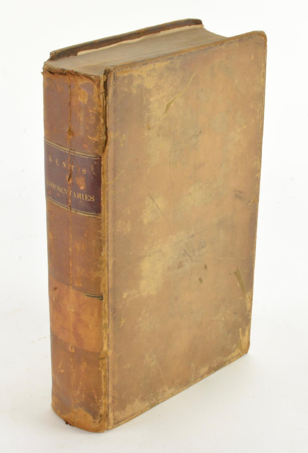 Commentaries On American Law By James Kent 1832 New York