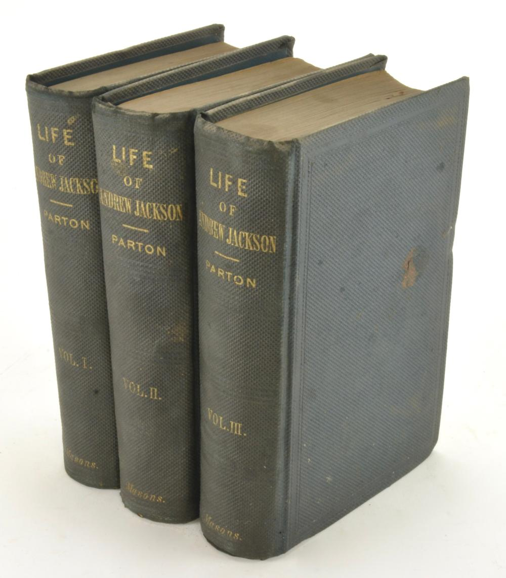Life Of Andrew Jackson By James Parton 1861 3Vol Set