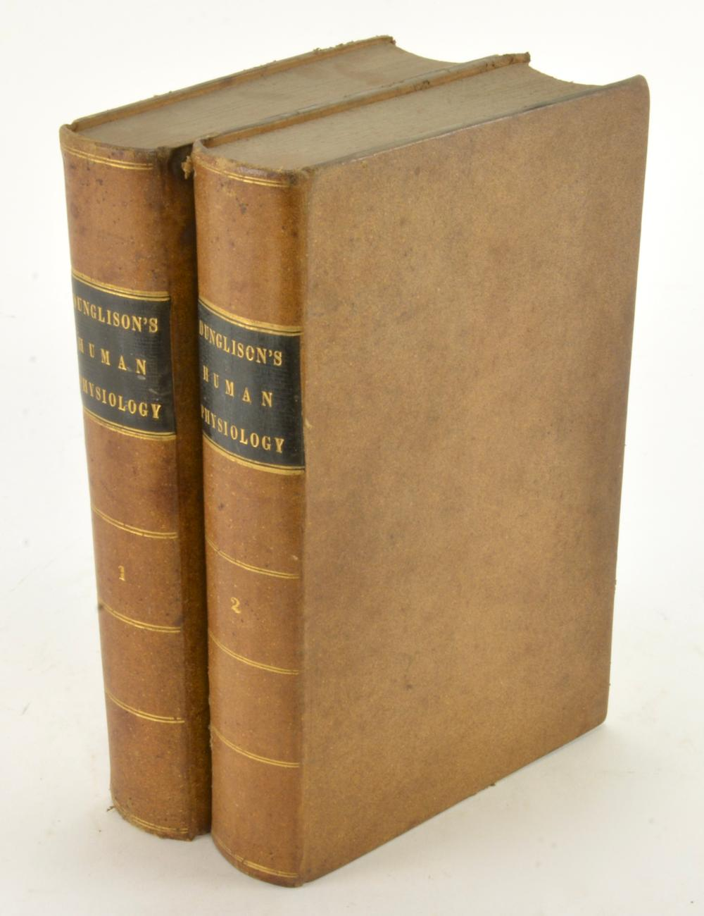 Dunglison's Human Physiology 1844 Philadelphia 2 Vol Set