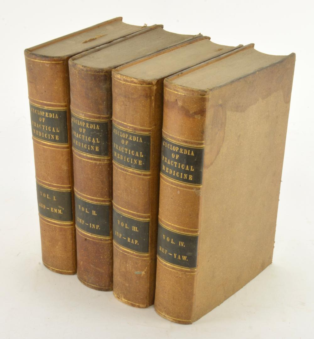 The Cyclopedia Practical Medicine Dunglison 1847 Philadelphia 4 Vol Set