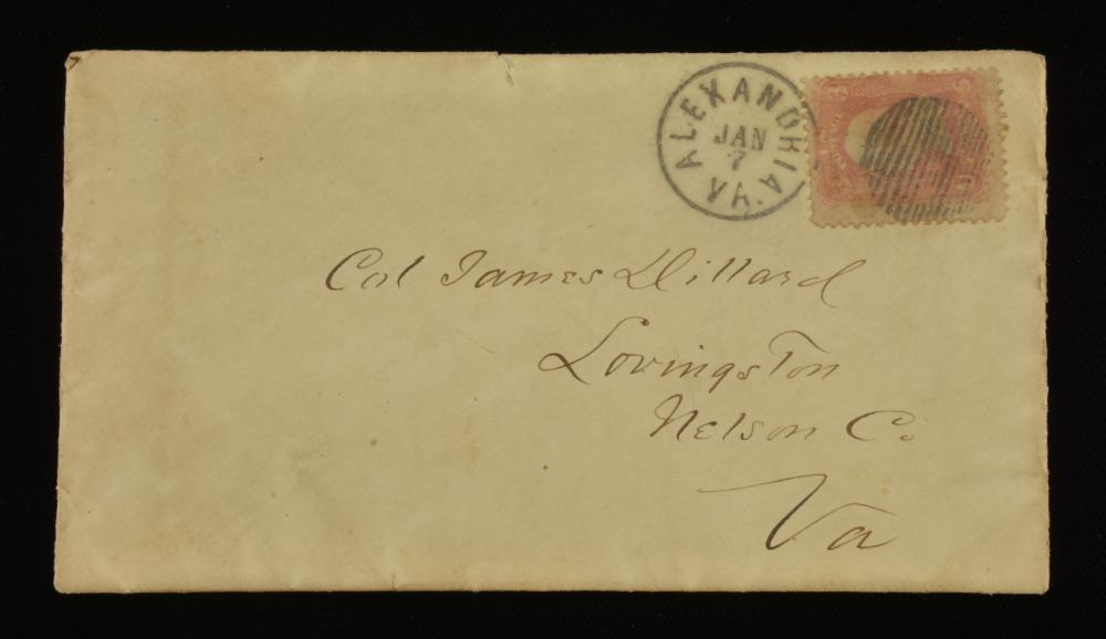 Col. James Dillard Lovingston Va. 1866 Postmark Letter
