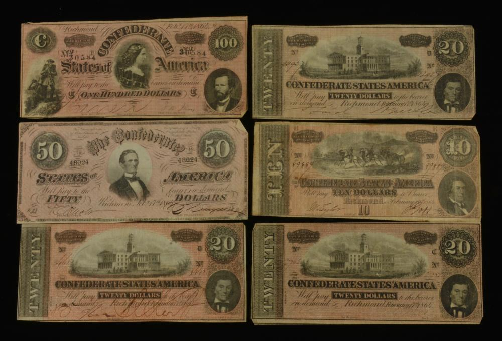 Dillard Larkin Richmond Va. C.S.A. Currency Group Lot