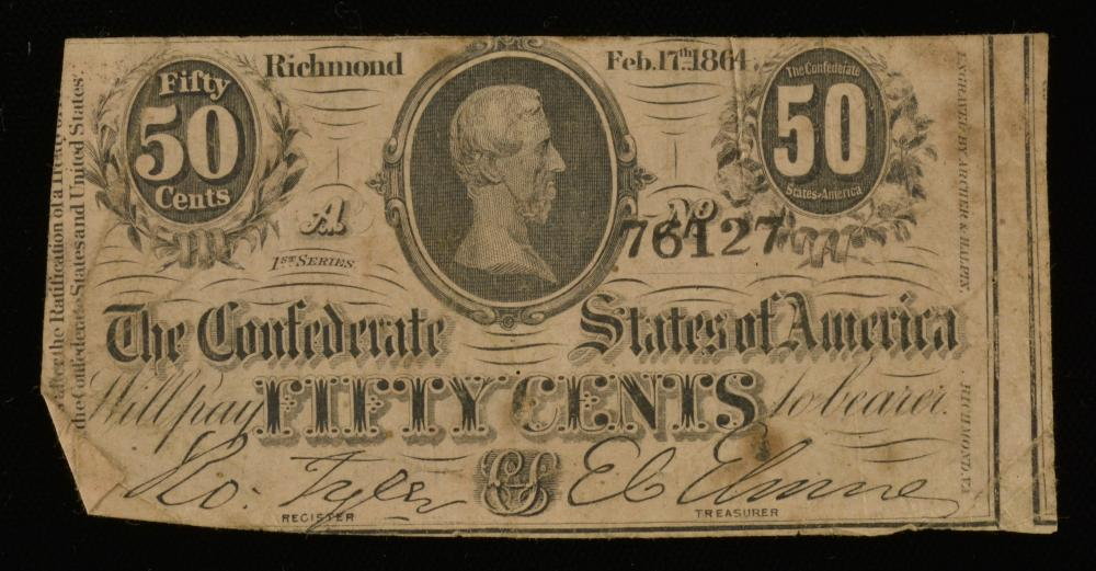 1864 Dillard Larkin Richmond Va. C.S.A. Currency